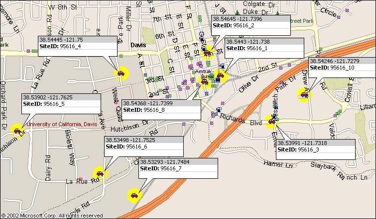Davis area map