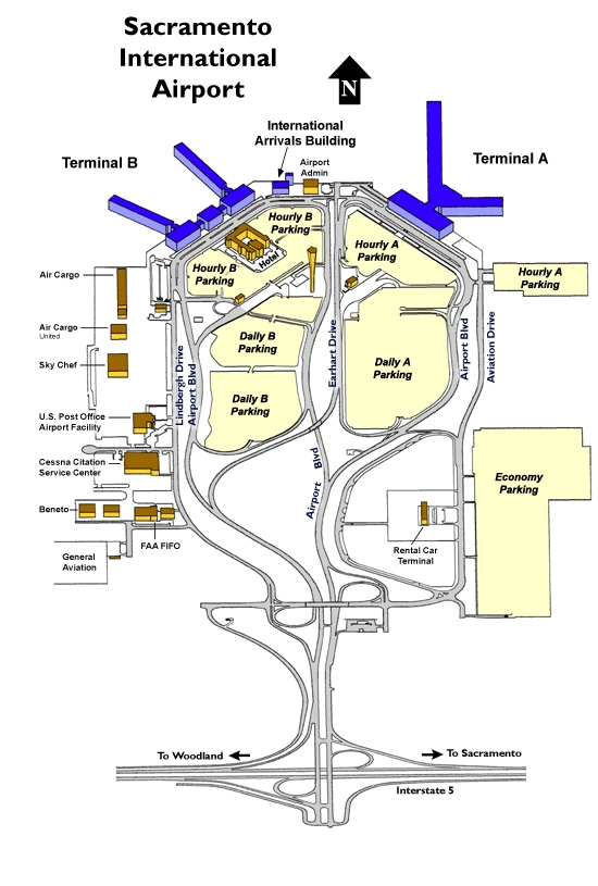 map of sacramento airport Sacramento International Airport Daily B Lot 95837 2 map of sacramento airport
